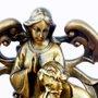 Imagem Presépio em Mármore com Pintura em Bronze Estilizado 30cm