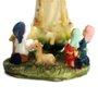 Resina importada Nossa Senhora de Fátima com Pastor 8cm