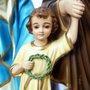Resina Nacional Sagrada Família com Olhos de Vidro 55cm