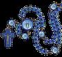 Terço Nossa Senhora das Graças Madeira Azul Entremeio